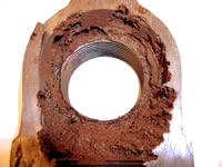 Example of corrosion by carbon dioxide